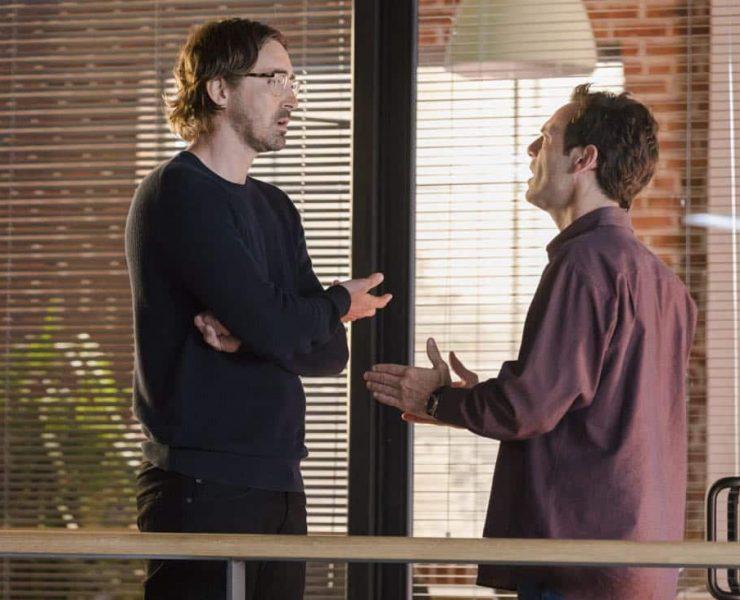 Lee Pace as Joe MacMillan, Scoot McNairy as Gordon Clark- Halt and Catch Fire _ Season 4, Episode 3 - Photo Credit: Bob Mahoney/AMC