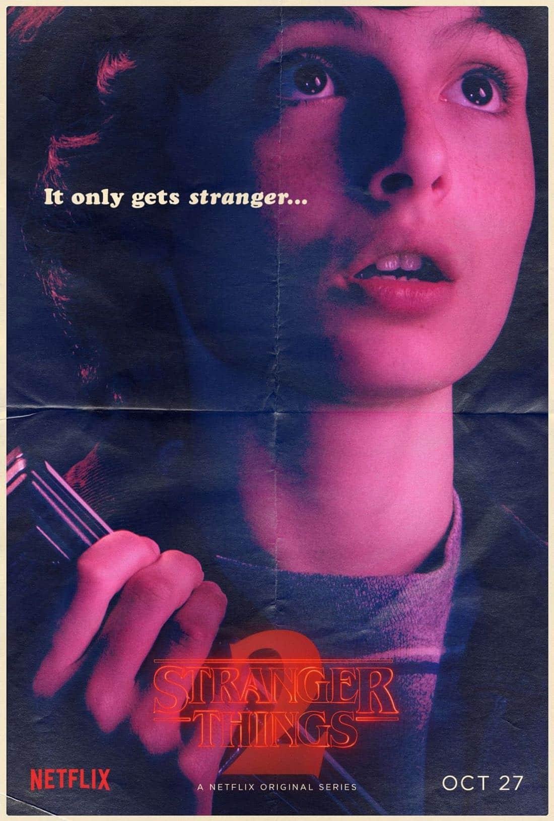 Stranger Things Character Poster - Finn Wolfhard - Mike