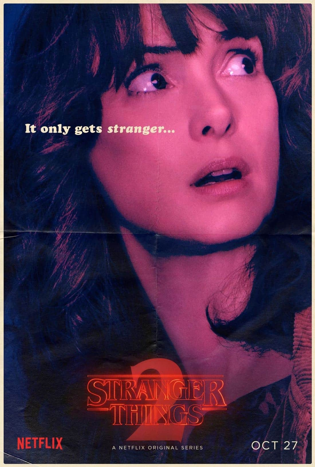 Stranger Things Character Poster - Winona Ryder - Joyce