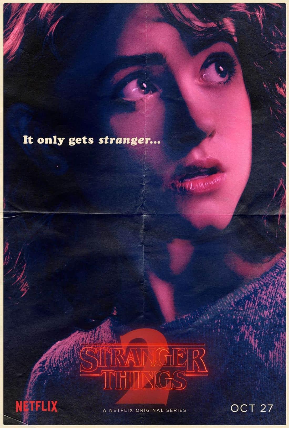 Stranger Things Character Poster - Natalia Dyer - Nancy