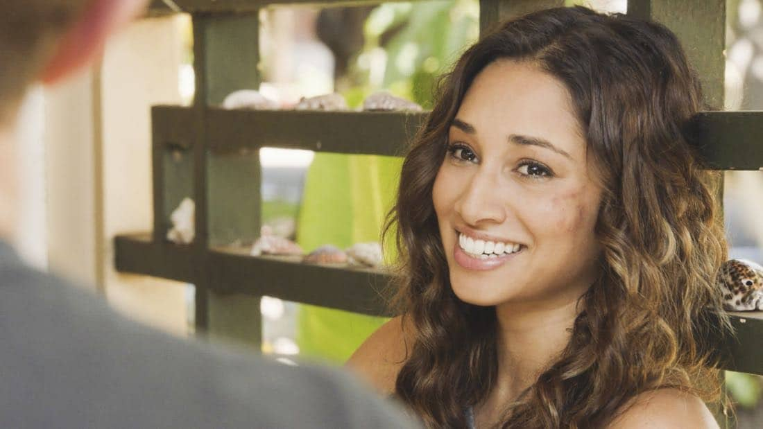 """'A'ole e 'lelo mai ana ke ahi ua ana ia"" -- McGarrett and Danny recruit Tani Rey (Meaghan Rath) to join the task force when diabolical hacker Aaron Wright (Joey Lawrence) releases a dangerous arsonist from prison, on the eighth season premiere of HAWAII FIVE-0, Friday, Sept. 29 (9:00-10:00 PM, ET/PT) on the CBS Television Network. The season premiere includes animation of one of McGarrett and Danny's infamous ""car-guements."" Also, Randy Couture returns, and Joey Lawrence joins his brother, Andrew, when he guest stars as Aaron Wright, a hacker. Pictured: Meaghan Rath as Tani Rey. Photo: Best Screen Grab Available/CBS ©2017 CBS Broadcasting, Inc. All Rights Reserved (""'A'ole e '?lelo mai ana ke ahi ua ana ia"" is Hawaiian for ""Fire Will Never Say that It Has Had Enough"")"