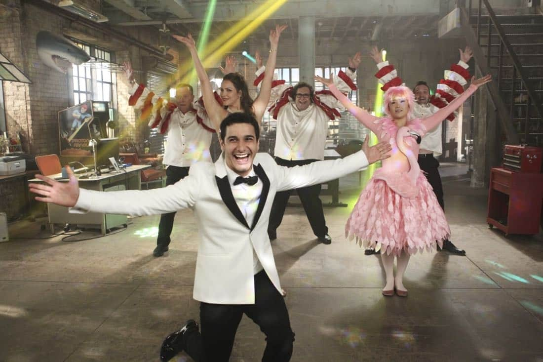 """""""Extinction"""" -- Walter (Elyes Gabel) declares that 'Everything Is Absolutely Genius' when SCORPION begins its 4th season on Monday, Sept. 25 (10:00-11:00 PM, ET/PT) on the CBS Television Network. Pictured: Robert Patrick, Katharine McPhee, Elyes Gabel, Ari Stidham, Jadyn Wong, Eddie Kaye Thomas. Photo: Sonja Flemming/CBS ©2017 CBS Broadcasting, Inc. All Rights Reserved"""