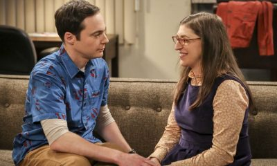 """The Proposal Proposal"" -- Pictured: Sheldon Cooper (Jim Parsons) and Amy Farrah Fowler (Mayim Bialik). Amy gives Sheldon an answer to his proposal while Howard and Bernadette struggle with some unexpected news, on the 11th season premiere of THE BIG BANG THEORY, Monday, Sept. 25 (8:00-8:31 PM, ET/PT), on the CBS Television Network. Photo: Michael Yarish/Warner Bros. Entertainment Inc. © 2016 WBEI. All rights reserved."