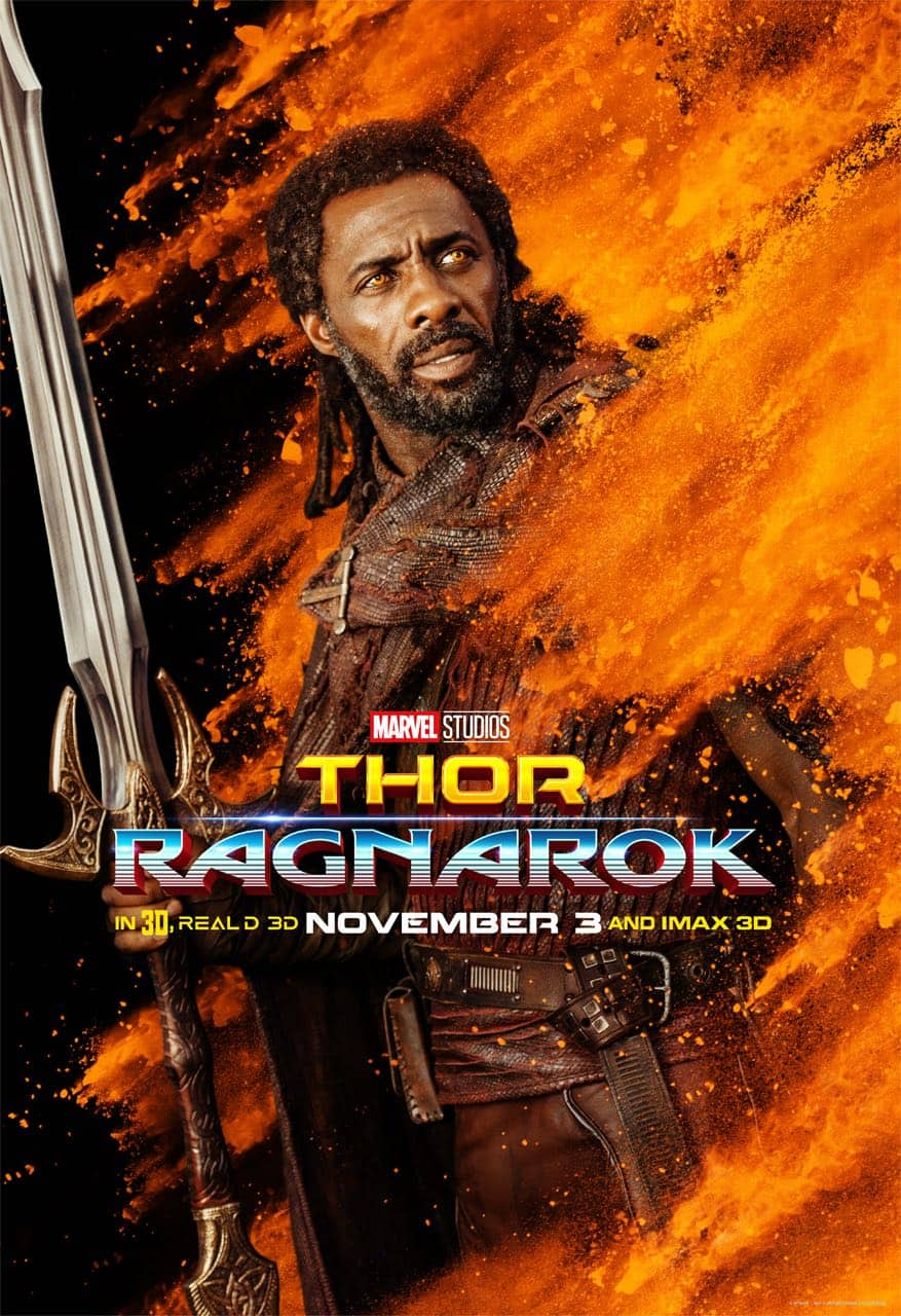 Idris Elba Heimdall Thor Ragnarok Character Poster