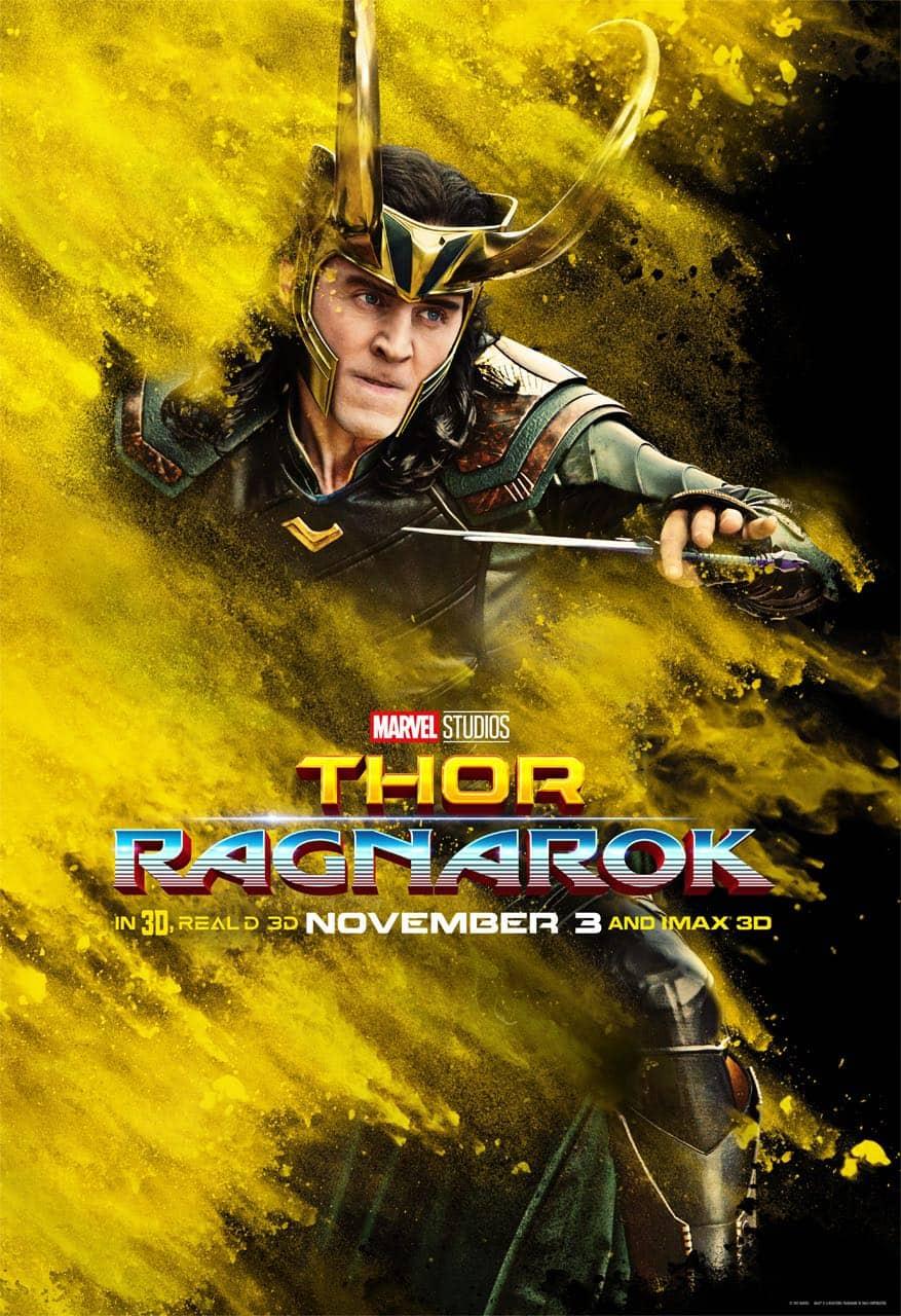 Tom Hiddleston Loki Thor Ragnarok Character Poster