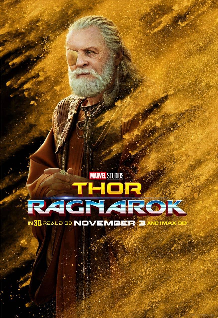 Anthony Hopkins Odin Thor Ragnarok Character Poster
