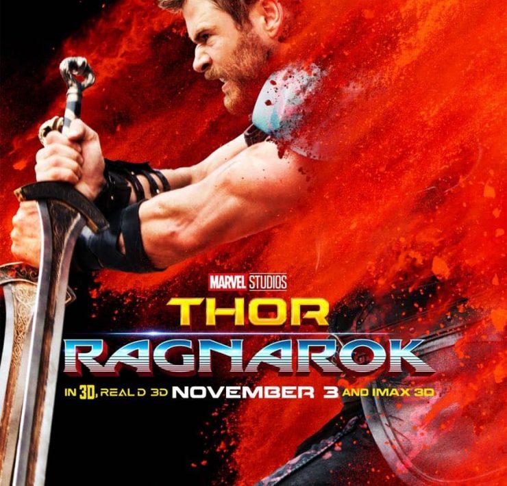 Chris Hemsworth Thor Ragnarok Character Poster
