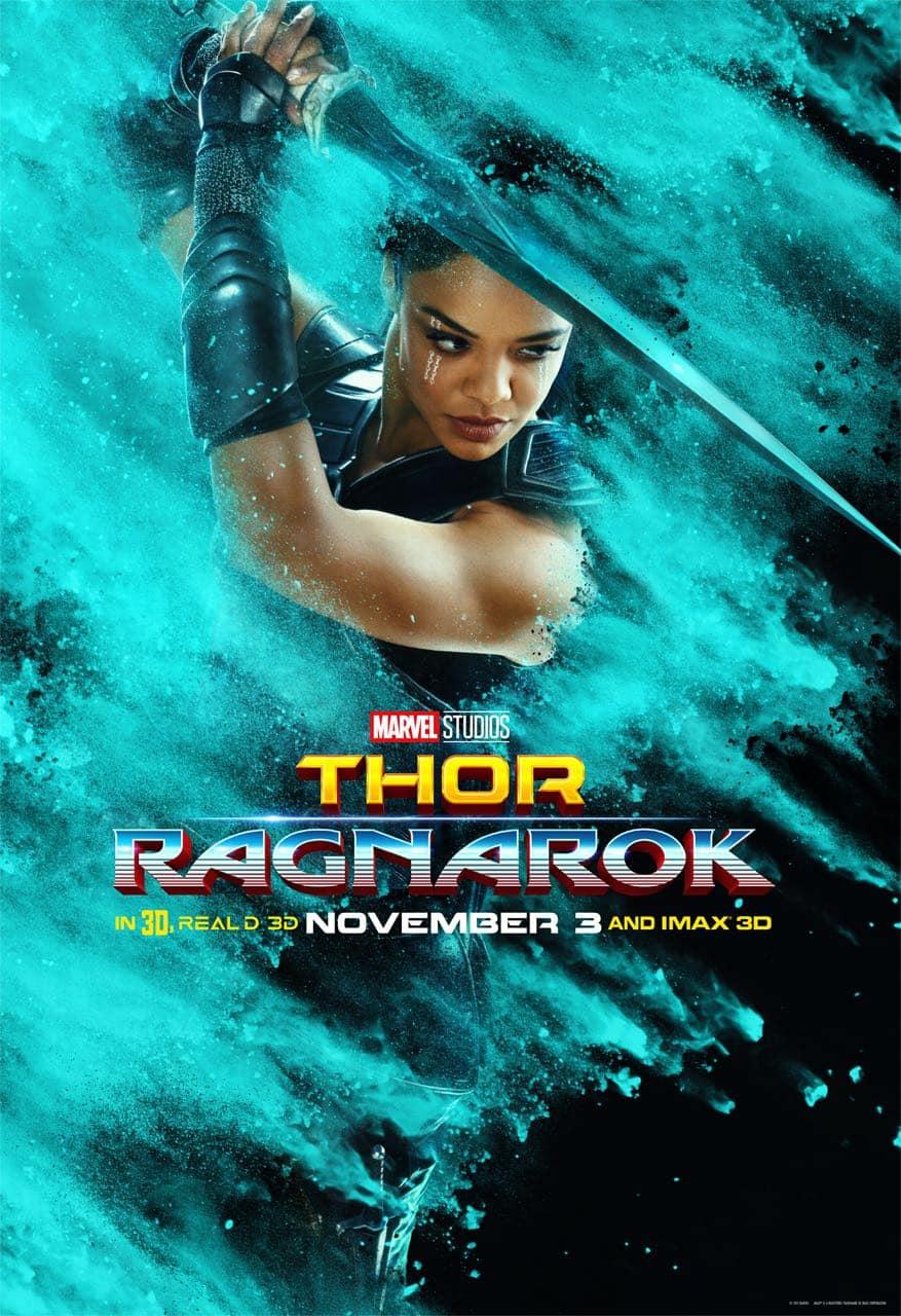 Tessa Thompson Valkyrie Thor Ragnarok Character Poster