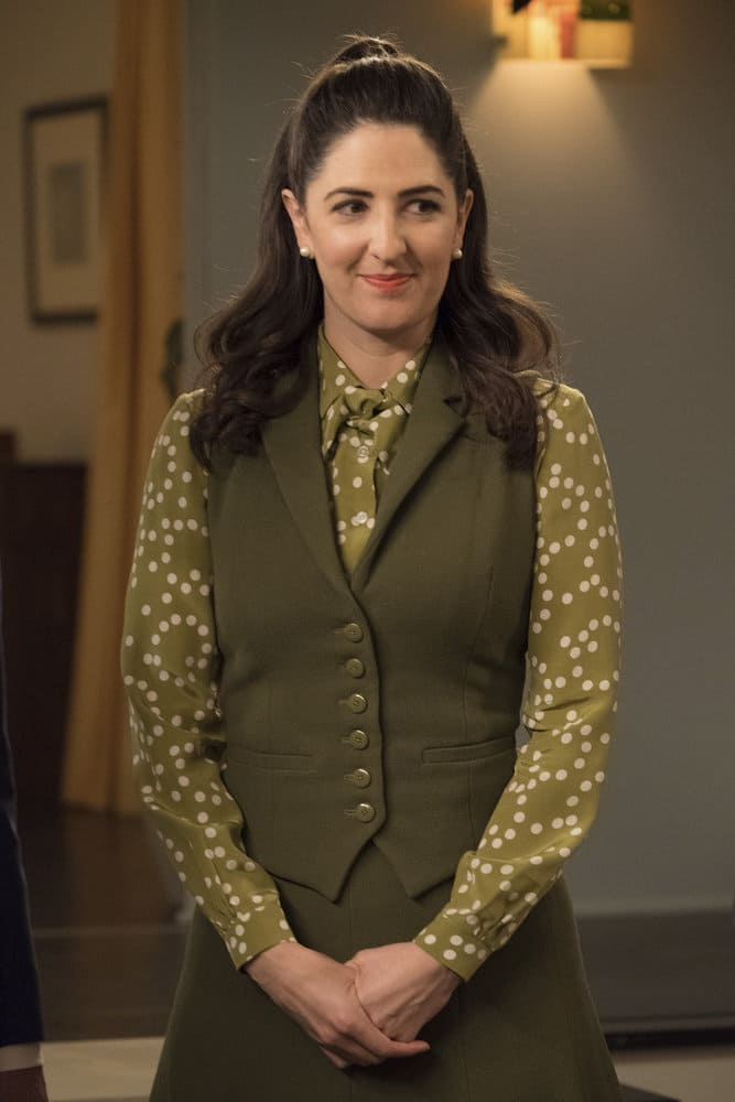 """THE GOOD PLACE -- """"Everything is Great!"""" Episode 201 -- Pictured: D'Arcy Carden as Janet -- (Photo by: Colleen Hayes/NBC)"""