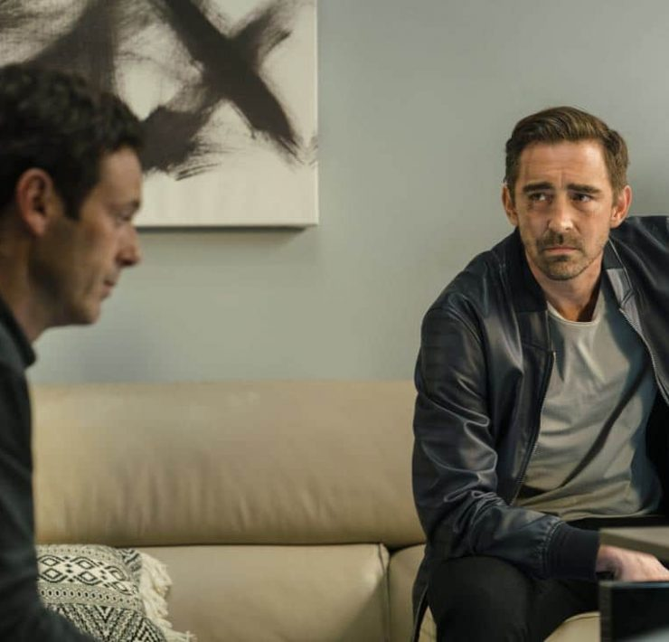 Lee Pace as Joe MacMillan, Scoot McNairy as Gordon Clark - Halt and Catch Fire _ Season 4, Episode 5 - Photo Credit: Tina Rowden/AMC