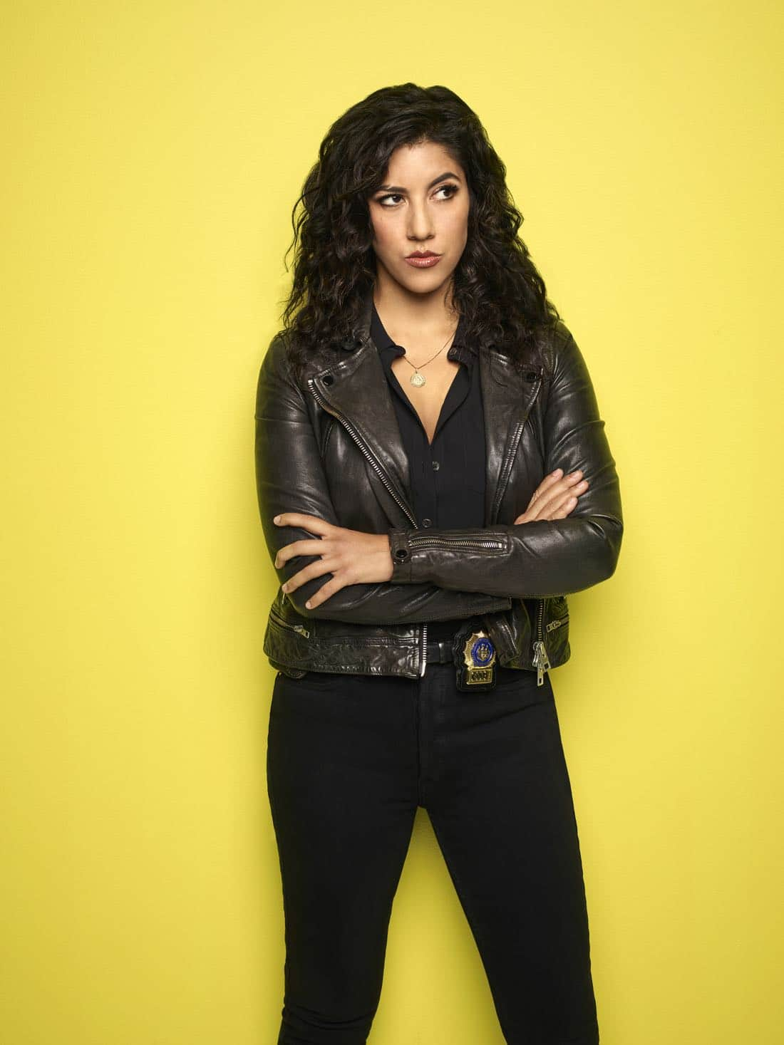 BROOKLYN NINE-NINE: Stephanie Beatriz as Detective Rosa Diaz. BROOKLYN NINE-NINE Season Five premieres Tuesday, Sept. 26 (9:30-10:00 PM ET/PT) on FOX. ©2017 Fox Broadcasting Co. CR: Robert Trachtenberg/FOX