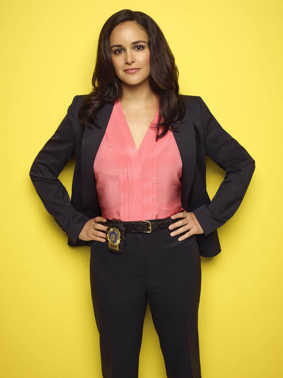 BROOKLYN NINE-NINE: Melissa Fumero as Detective Amy Santiago. BROOKLYN NINE-NINE Season Five premieres Tuesday, Sept. 26 (9:30-10:00 PM ET/PT) on FOX. ©2017 Fox Broadcasting Co. CR: Robert Trachtenberg/FOX