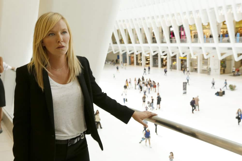 "LAW & ORDER: SPECIAL VICTIMS UNIT -- ""Gone Fishin'"" Episode 1901 -- Pictured: Kelli Giddish as Detective Amanda Rollins -- (Photo by: Will Hart/NBC)"