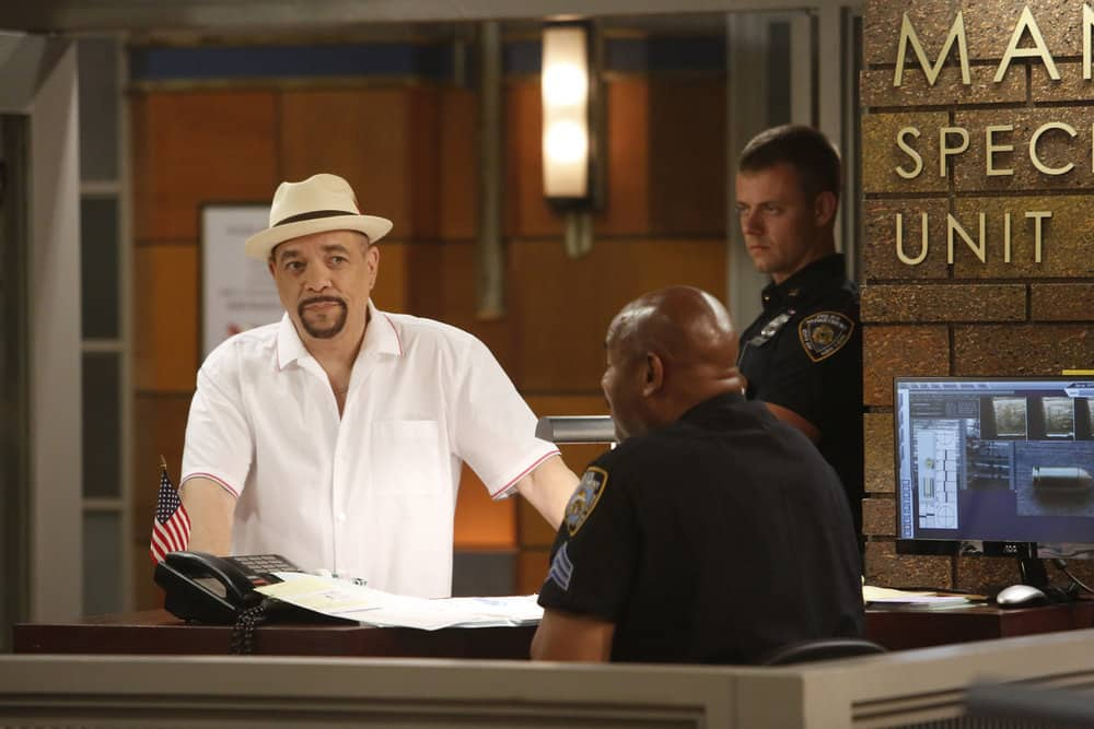 "LAW & ORDER: SPECIAL VICTIMS UNIT -- ""Gone Fishin'"" Episode 1901 -- Pictured: Ice T as Detective Odafin ""Fin"" Tutuola -- (Photo by: Will Hart/NBC)"