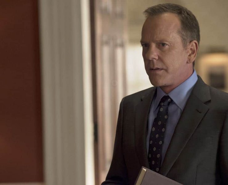 """DESIGNATED SURVIVOR - """"One Year In"""" - In the season two premiere episode of ABC's hit drama """"Designated Survivor,"""" Kiefer Sutherland returns as President Tom Kirkman. Now, one year into office, Kirkman is a Commander-in-Chief determined to rebuild the Capitol and capture the terrorists behind the catastrophic attack on the United States. When Ukrainian nationalists hijack a Russian Air flight, the president is faced with a hostage situation in which his diplomatic skills are put to the test, on """"Designated Survivor,"""" airing WEDNESDAY, SEPTEMBER 27 (10:00-11:00 p.m. EDT). (ABC/Ben Mark Holzberg)"""