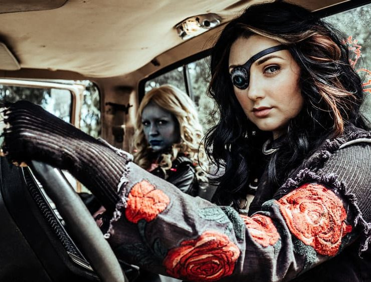 Z NATION -- Season:4 -- Pictured: (l-r) Tara Holt as Lucy, Anastasia Baranova as Addy -- (Photo by: Daniel Sawyer Schaefer/Go2 Z 4/Syfy)