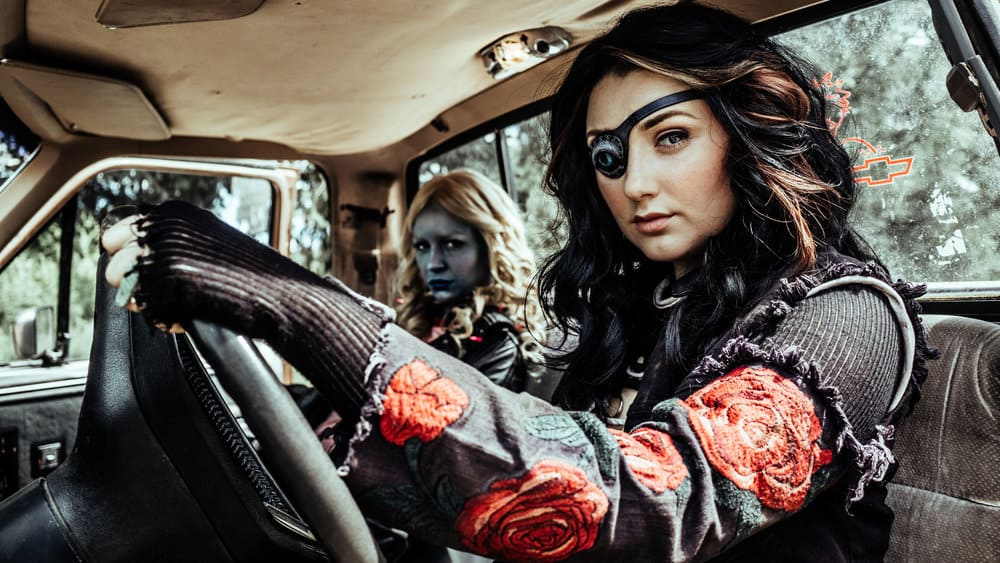 Z NATION -- Season:4 -- Pictured: (l-r) Tara Holt as Lucy, Anastasia Baranova as Addy -- (Photo by: Daniel Sawyer Schaefer/Go2 Z 4/Syfy)