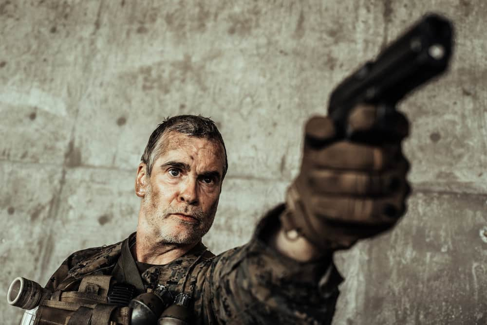 Z NATION -- Season:4 -- Pictured: Henry Rollins as Lt. Mueller -- (Photo by: Daniel Sawyer Schaefer/Go2 Z 4/Syfy)