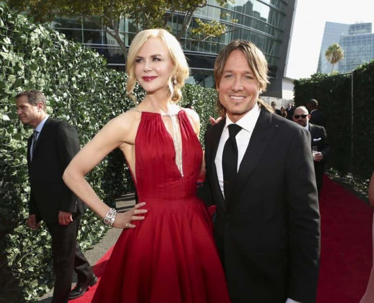 Nicole Kidman and Keith Urban arrive on the red carpet at the 69TH PRIMETIME EMMY AWARDS, LIVE from the Microsoft Theater in Los Angeles Sunday, Sept. 17 (8:00-11:00 PM, live ET/5:00-8:00 PM live PT) on the CBS Television Network. Photo: Mark Davis/CBS ©2017 CBS Broadcasting, Inc. All Rights Reserved.