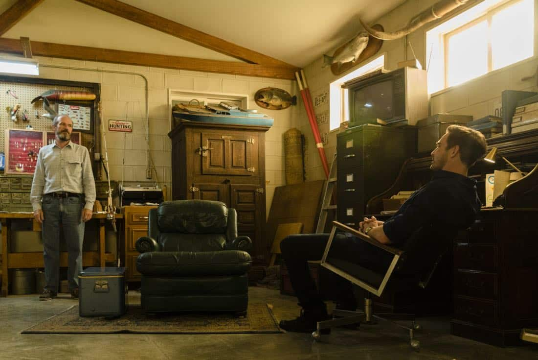 Toby Huss as John Bosworth, Lee Pace as Joe MacMillan - Halt and Catch Fire _ Season 4, Episode 6 - Photo Credit: Tina Rowden/AMC