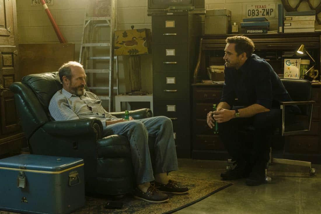 Toby Huss as John Bosworth, Lee Pace as Joe MacMillan- Halt and Catch Fire _ Season 4, Episode 6 - Photo Credit: Tina Rowden/AMC