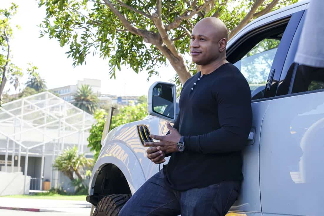"""""""Assets"""" -- Pictured: LL COOL J (Special Agent Sam Hanna). During the murder investigation of a Navy Lieutenant on leave in Los Angeles, the NCIS team uncovers classified surveillance briefs she smuggled into the city that may have been sold to a foreign buyer, on NCIS: LOS ANGELES, Sunday, Oct. 8 (9:00-10:00 PM, ET/PT) on the CBS Television Network. Photo: Monty Brinton/CBS ©2017 CBS Broadcasting, Inc. All Rights Reserved."""