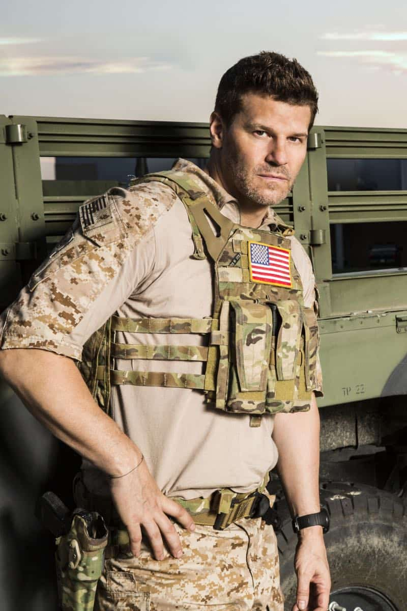 SEAL TEAM stars David Boreanaz (pictured), as Jason Hayes, in a military drama that follows the professional and personal lives of the most elite unit of Navy SEALs as they train, plan and execute the most dangerous, high stakes missions our country can ask of them. This fall, SEAL TEAM will be broadcast Wednesdays (9:00-10:00 PM, ET/PT) on the CBS Television Network. Photo: Cliff Lipson/CBS ©2017 CBS Broadcasting, Inc. All Rights Reserved