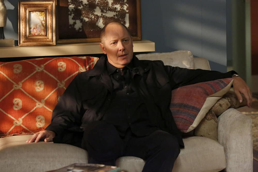 "THE BLACKLIST -- ""Greyson Blaise"" Episode 502 -- Pictured: James Spader as Raymond ""Red"" Reddington -- (Photo by: Will Hart/NBC)"