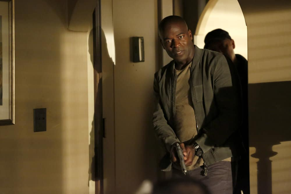 "THE BLACKLIST -- ""Greyson Blaise"" Episode 502 -- Pictured: Hisham Tawfiq as Dembe Zuma -- (Photo by: Will Hart/NBC)"