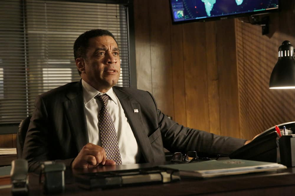 "THE BLACKLIST -- ""Greyson Blaise"" Episode 502 -- Pictured: Harry Lennix as Harold Cooper -- (Photo by: Will Hart/NBC)"