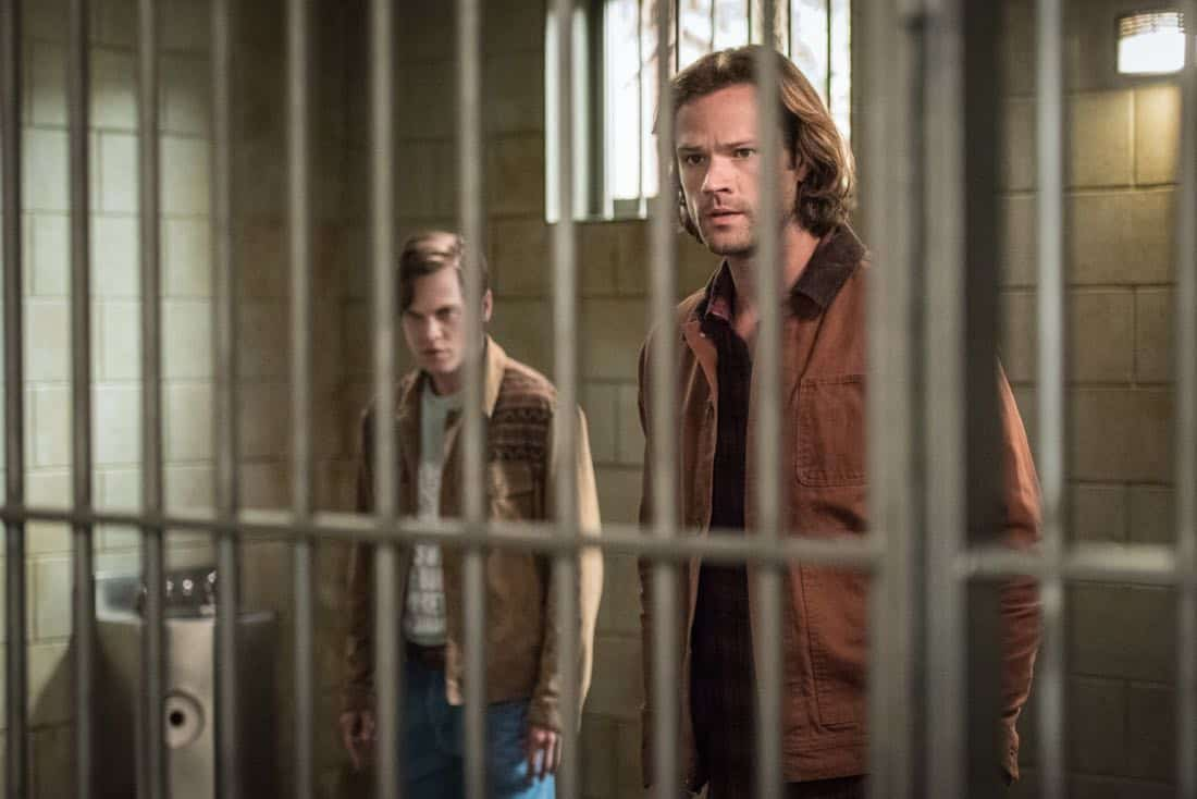 "Supernatural -- ""Lost and Found Pictured (L-R): Alexander Calvert as Jack and Jared Padalecki as Sam"
