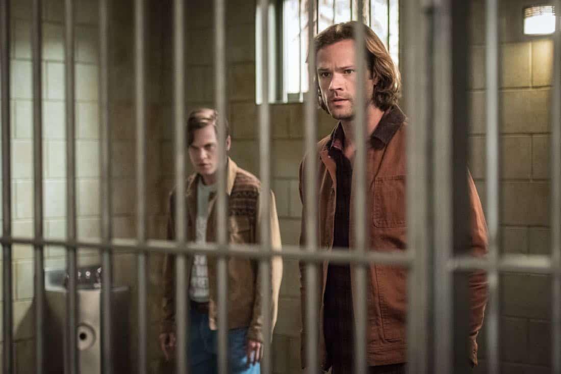 "Supernatural -- ""Lost and Found Pictured (L-R): Alexander Calvert as Jack and Jared Padalecki as Sam"
