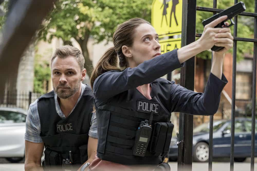 Chicago P.D. - Season 5 Pictured: (l-r) Patrick Flueger as Adam Ruzek, Marina Squerciati as Kim Burgess