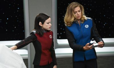 "THE ORVILLE: L-R: Halston Sage and Adrianne Palicki in the ""Pria"" episode of THE ORVILLE airing Thursday, Oct. 5 (9:01-10:00 PM ET/PT) on FOX. ©2017 Fox Broadcasting Co. Cr: Michael Becker/FOX"