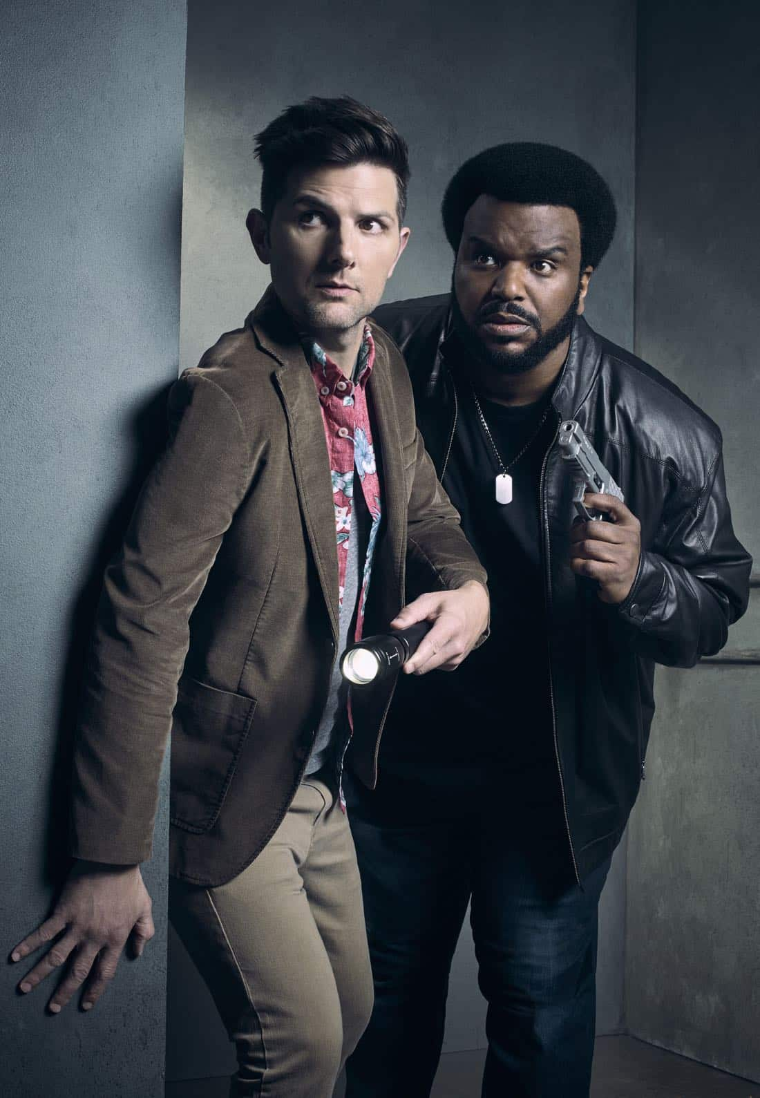 GHOSTED: Pictured L-R: Adam Scott and Craig Robinson on GHOSTED premiering Sunday, Oct. 1 (8:30-9:00 PM ET/PT) on FOX. ©2017 Fox Broadcasting Co. CR: Justin Stephens/FOX