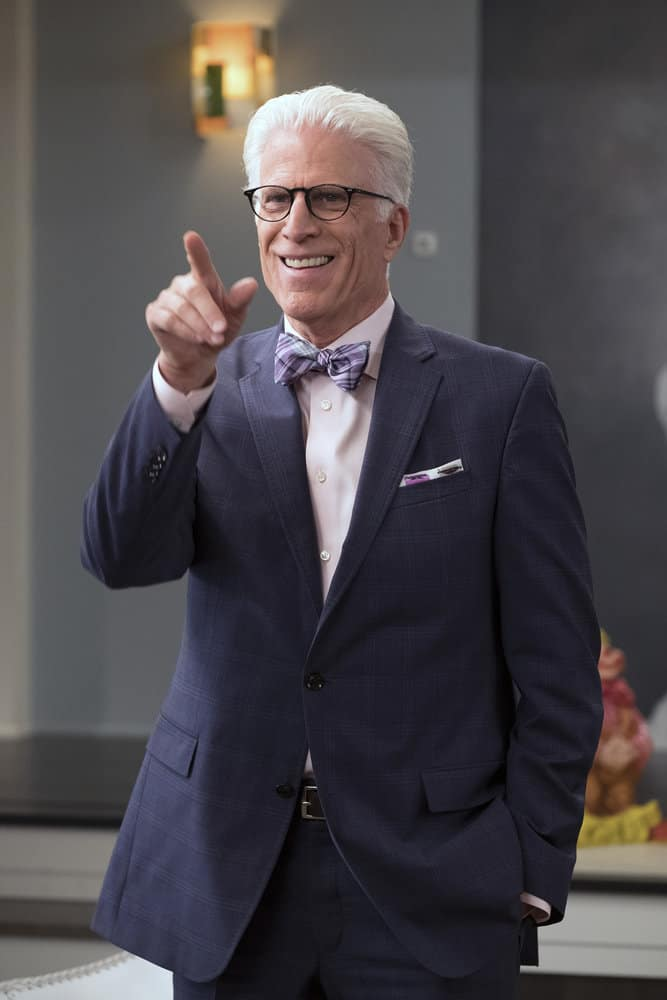 """THE GOOD PLACE -- """"Team Cockroach"""" Episode 204 -- Pictured: Ted Danson as Michael -- (Photo by: Colleen Hayes/NBC)"""