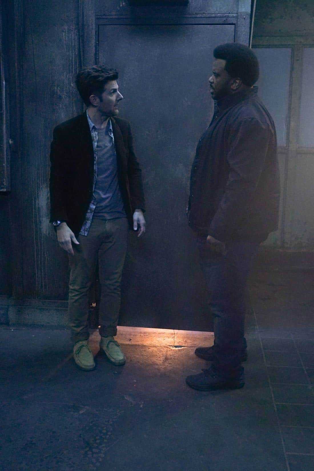 GHOSTED:  L-R: Adam Scott and Craig Robinson in GHOSTED premiering Oct. 1 (8:30-9:00 PM ET/PT) on FOX. ©2017 Fox Broadcasting Co.  Cr:  Kevin Estrada/Fox.
