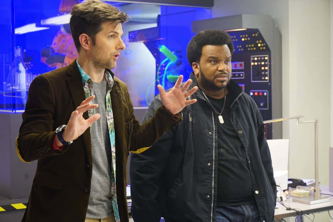 GHOSTED:  L-R: Adam Scott and Craig Robinson in GHOSTED premiering this fall on FOX. ©2017 Fox Broadcasting Co.  Cr: Kevin Estrada/Fox