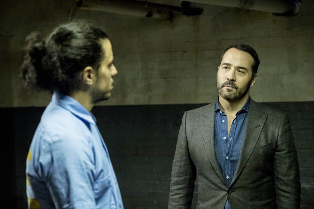 WISDOM OF THE CROWD stars Jeremy Piven (right) as Jeffrey Tanner, a visionary tech innovator who creates a cutting-edge crowdsourcing app to solve his daughter's murder, and revolutionize crime solving in the process. To assist him, Tanner recruits Det. Tommy Cavanaugh (Richard T. Jones), the original cop who investigated the murder but was unceremoniously forced off the case. Series premiere of the new drama WISDOM OF THE CROWD, Sunday, Oct. 1 (8:30-9:30 PM, ET/PT), on the CBS Television Network. Photo: Cate Cameron/CBS ©2017 CBS Broadcasting, Inc. All Rights Reserved.