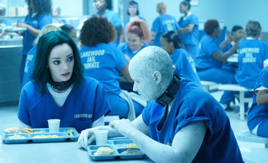 """THE GIFTED:  L-R:  Emma Dumont and guest star Anissa Matlock in the """"A New World"""" episode of THE GIFTED airing Monday, Oct. 9 (9:00-10:00 PM ET/PT) on FOX.  ©2017 Fox Broadcasting Co.  Cr:  Eliza Morse/FOX"""