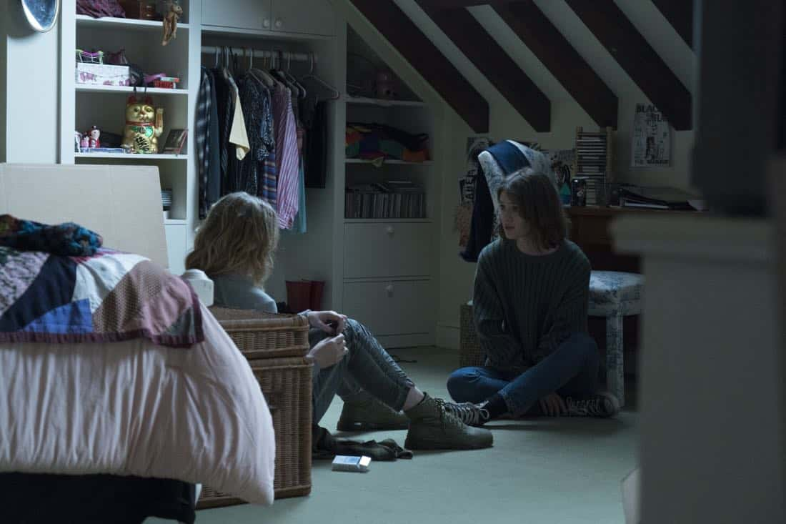 Mackenzie Davis as Cameron Howe, Kathryn Newton as Joanie Clark - Halt and Catch Fire _ Season 4, Episode 8 - Photo Credit: Tina Rowden/AMC