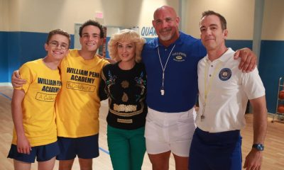 "THE GOLDBERGS- ""Goldberg On The Goldbergs"" - Beverly confronts Coach Mellor who reveals his strained relationship with his own brother Coach Nick, so she intervenes prompting Nick to face off with Rick. Adam and Barry join in, each one siding with one of the coaches. After a fight breaks out, Beverly points out to Adam and Barry this could be them as adults. Meanwhile, Geoff and Erica struggle with their relationship long distance, on ""The Goldbergs,"" WEDNESDAY, OCTOBER 11 (8:00-8:30 p.m. EDT), on The ABC Television Network. (ABC/Ron Tom) SEAN GIAMBRONE, TROY GENTILE, WENDI MCLENDON-COVEY, BILL GOLDBERG, BRYAN CALLEN"