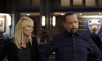 "LAW & ORDER: SPECIAL VICTIMS UNIT -- ""Contrapasso"" Episode 1903 -- Pictured: (l-r) Kelli Giddish as Detective Amanda Rollins, Ice T as Detective Odafin ""Fin"" Tutuola -- (Photo by Christopher Saunders/NBC)"