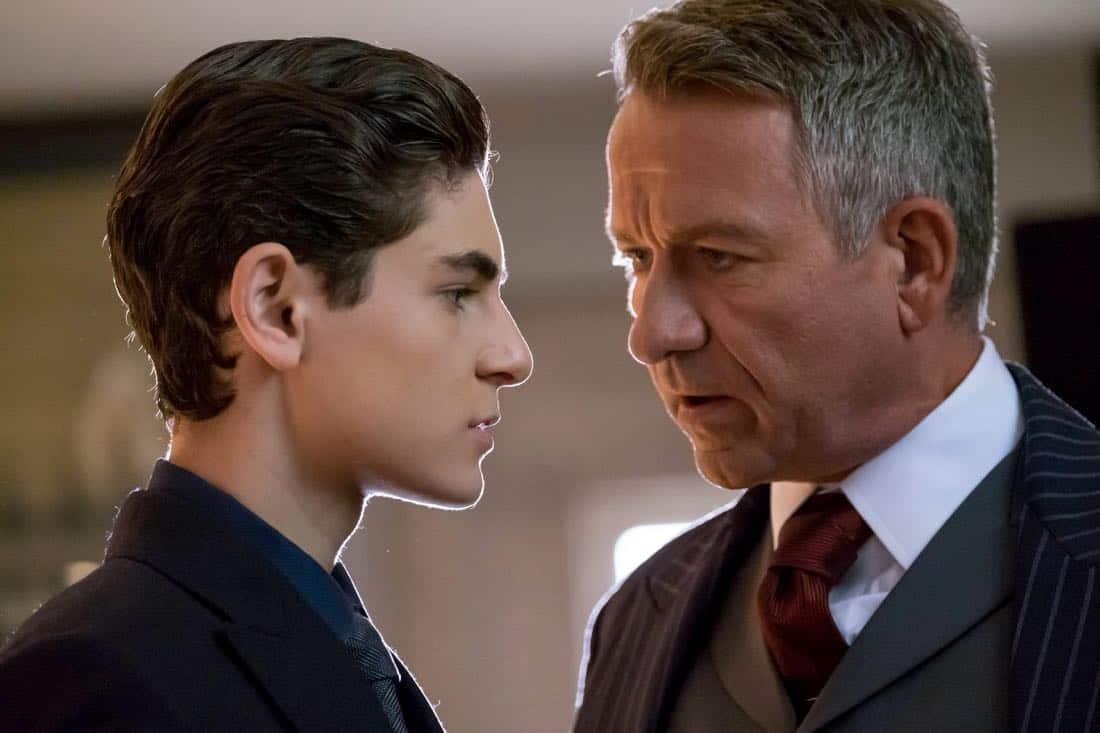 "GOTHAM: L-R: David Mazouz and Sean Pertwee in the ""A Dark Knight: The Demon's Head"" episode of GOTHAM airing Thursday, Oct. 12 (8:00-9:01 PM ET/PT) on FOX. CR: Jeff Neumann/FOX"