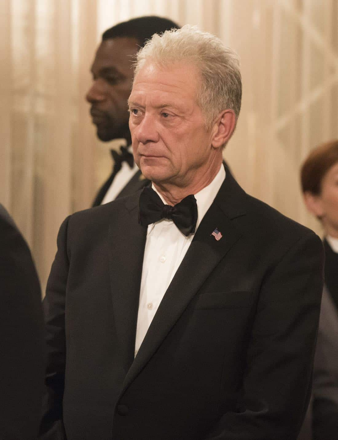 """SCANDAL - """"Pressing the Flesh"""" - President Mellie Grant hosts a state dinner for President Rashad of Bashran in a first step toward peace in the Middle East, and in case Mellie's charm alone doesn't work, Olivia secretly puts Jake to work so that they are armed with a back-up plan. Meanwhile, the team at Quinn Perkins & Associates attends the party in hopes to gain more high-profile clientele, on """"Scandal,"""" airing THURSDAY, OCTOBER 12 (9:00-10:00 p.m. EDT), on The ABC Television Network. (ABC/Mitch Haaseth) JEFF PERRY"""