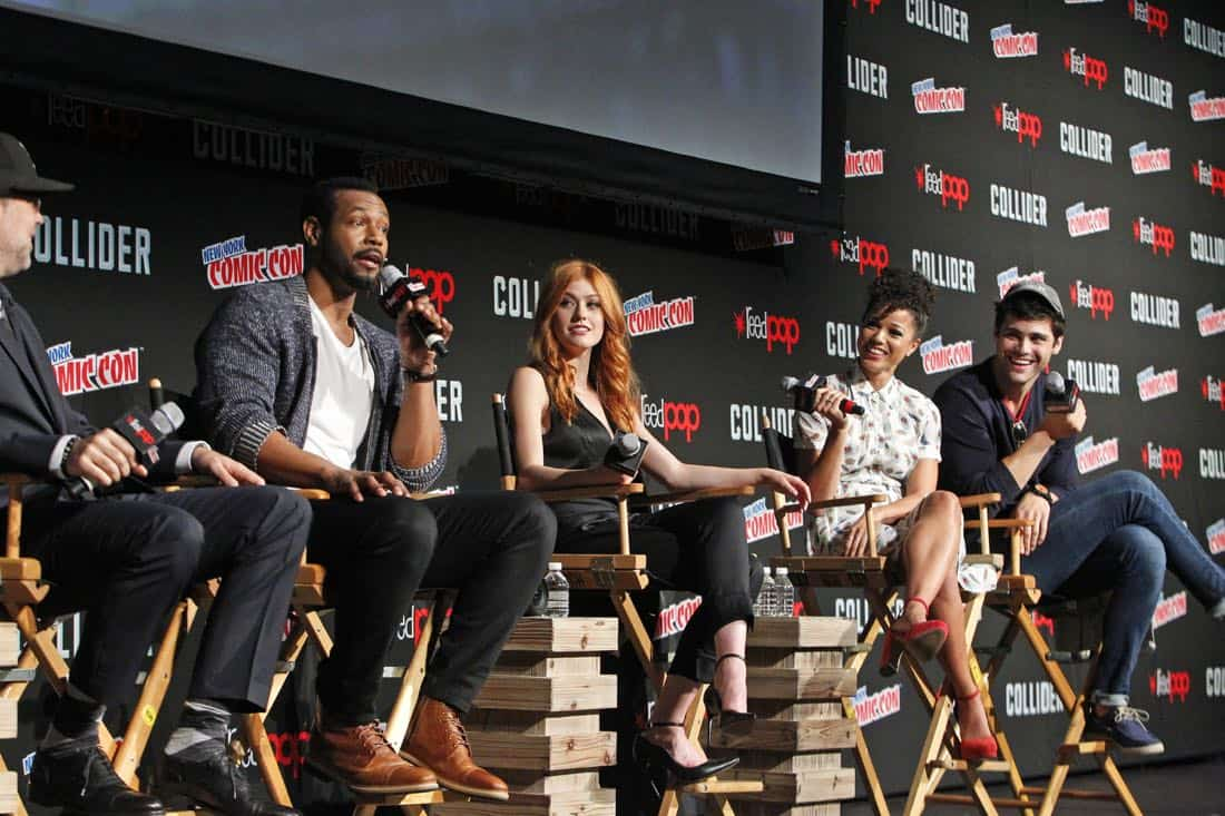"NY COMIC-CON 2017 -SHADOWHUNTERS - Freeform's genre programming was out in full force at this year's New York Comic Con on Saturday, October 7th with executive producers and cast from the hit series ""Shadowhunters,"" ""Beyond,"" and new original series ""Siren."" (Freeform/Lou Rocco) MATT HASTINGS, EXECUTIVE PRODUCER, ISAIAH MUSTAFA, KATHERINE MCNAMARA, ALISHA WAINWRIGHT, MATTHEW DADDARIO"