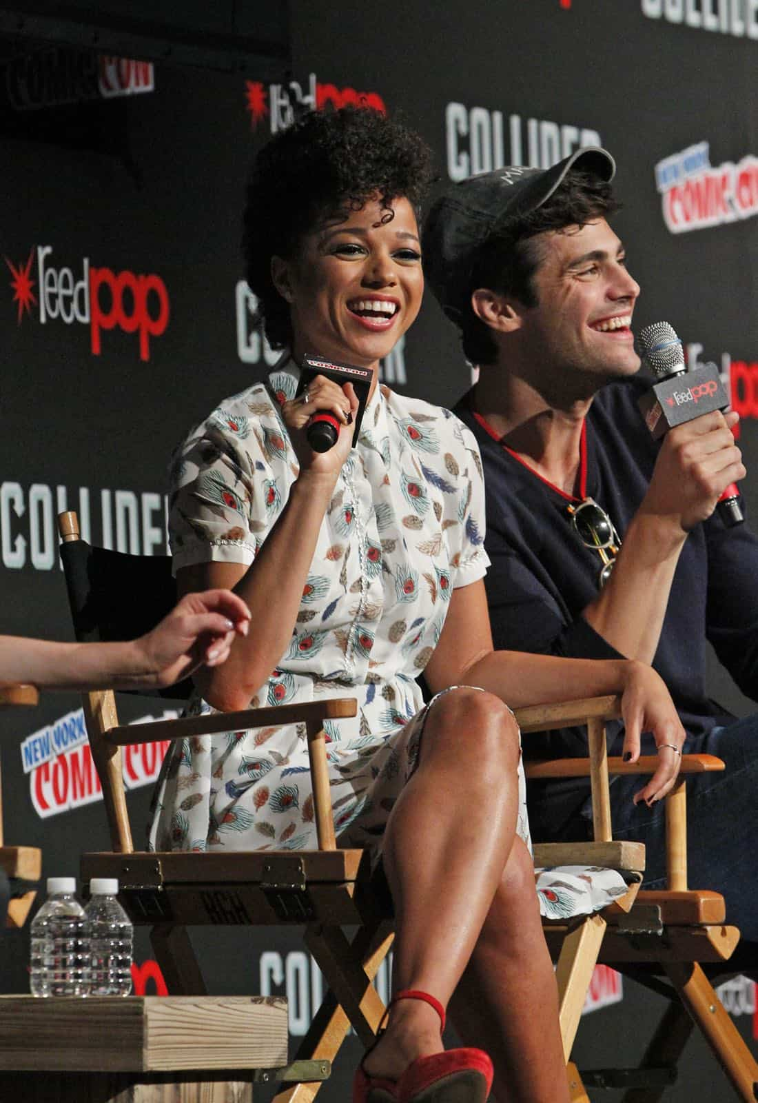 "NY COMIC-CON 2017 -SHADOWHUNTERS - Freeform's genre programming was out in full force at this year's New York Comic Con on Saturday, October 7th with executive producers and cast from the hit series ""Shadowhunters,"" ""Beyond,"" and new original series ""Siren."" (Freeform/Lou Rocco) ALISHA WAINWRIGHT, MATTHEW DADDARIO"