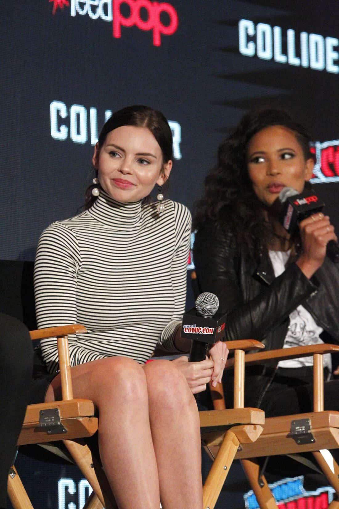 """NY COMIC-CON 2017 - SIREN - Freeform's genre programming was out in full force at this year's New York Comic Con on Saturday, October 7th with executive producers and cast from the hit series """"Shadowhunters,"""" """"Beyond,"""" and new original series """"Siren."""" (Freeform/Lou Rocco) ELINE POWELL, FOLA EVANS-AKINGBOLA"""