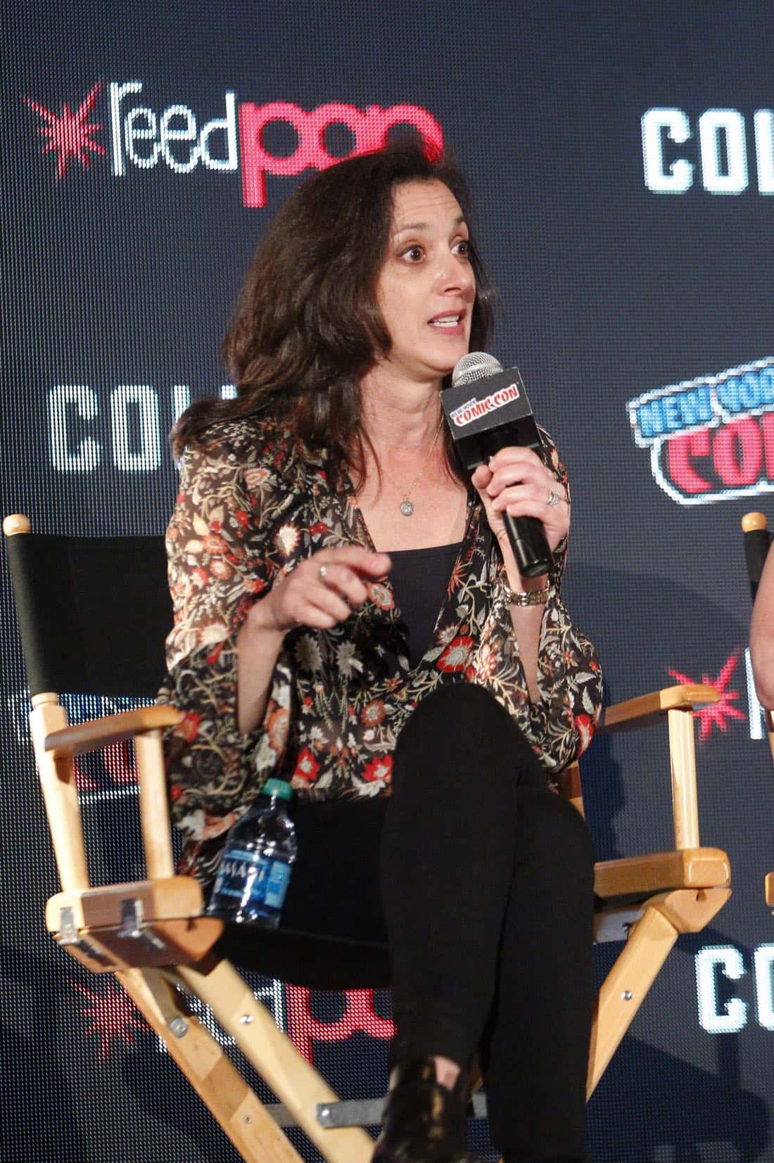"""NY COMIC-CON 2017 - SIREN - Freeform's genre programming was out in full force at this year's New York Comic Con on Saturday, October 7th with executive producers and cast from the hit series """"Shadowhunters,"""" """"Beyond,"""" and new original series """"Siren."""" (Freeform/Lou Rocco) EMILY WHITESELL (EXECUTIVE PRODUCER)"""