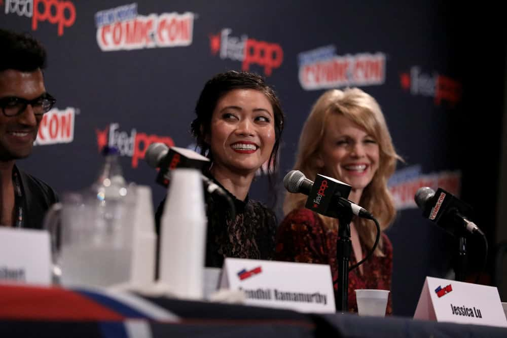 "NEW YORK COMIC CON -- ""Reverie"" -- Pictured: (l-r) Jessica Lu, Kathryn Morris -- (Photo by: Heidi Gutman/NBC)"